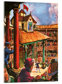 Acrylic print  Shakespeare performing at the Globe Theatre - Peter Jackson