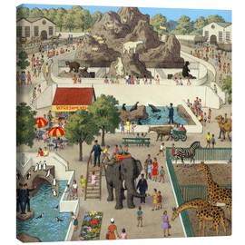Canvas print  At the Zoo - Ronald Lampitt