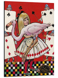 Aluminium print  Alice in Wonderland - Jesus Blasco