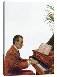 Canvas  Rachmaninoff playing the piano - Andrew Howat