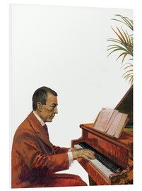 Foam board print  Rachmaninoff playing the piano - Andrew Howat