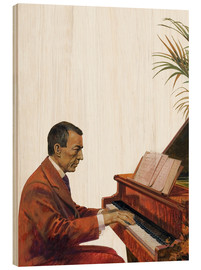 Wood  Rachmaninoff playing the piano - Andrew Howat