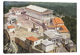 Canvas  The Acropolis and Parthenon - Roger Payne