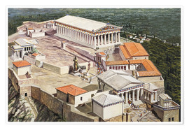 Premium poster  The Acropolis and Parthenon - Roger Payne