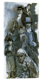 Acrylic print  Depiction of Charles Dickens' fantasy figures - Neville Dear