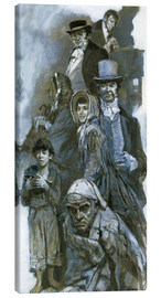 Canvas print  Depiction of Charles Dickens' fantasy figures - Neville Dear