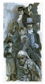 Premium poster  Depiction of Charles Dickens' fantasy figures - Neville Dear