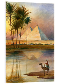 Foam board print  The Great Pyramid of Giizeh - English School
