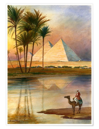 Premium poster The Great Pyramid of Giizeh