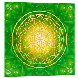 Acrylic glass  Flower of Life - Healing - Dolphins DreamDesign