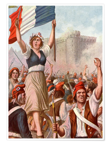 Premium poster French Revolution - Taking the Bastille