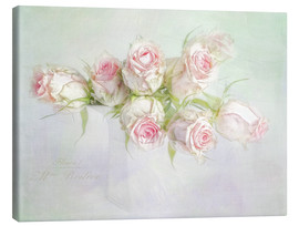 Canvas  pretty pink roses - Lizzy Pe