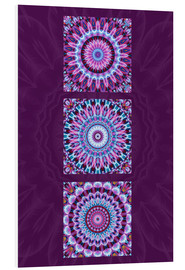 Foam board print  Mandala Collage purple - Christine Bässler