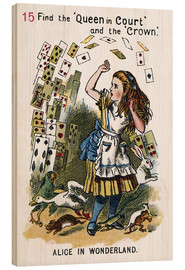 Wood print  Alice in Wonderland, page 15 - John Tenniel