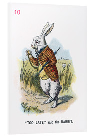 Foam board print  Too Late, said the Rabbit - John Tenniel