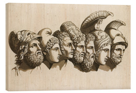Wood print  The Heroes of the Trojan War - English School