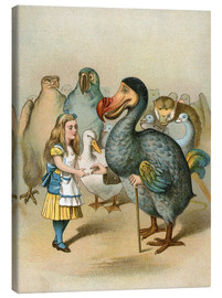Canvas print  The Dodo solemnly presented the thimble from Alice's Adventures in Wonderland - John Tenniel