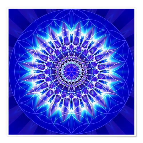 Premium poster Spirituality with Mandala Flower of Life