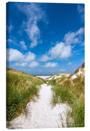 Canvas print  Path to the beach - Reiner Würz