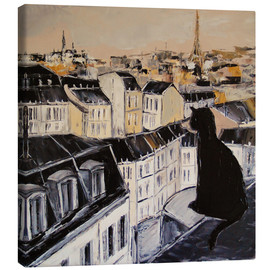 Canvas print  Black cat on a roof in Paris - JIEL