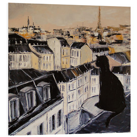 Forex  Black cat on the roofs of Paris - JIEL