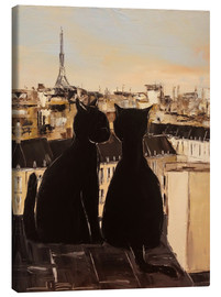 Canvas print  Cats on the roofs of Paris - JIEL