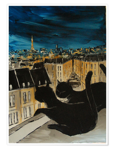 Premium poster The roofs of Paris