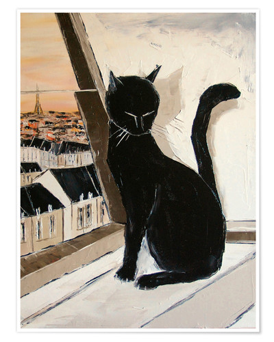 Premium poster Paris of cats