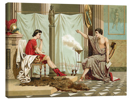 Canvas print  Alexander the Great is taught by Aristotle - Jose Armet Portanell