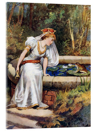 Acrylic print  The Frog Prince - William Henry Margetson