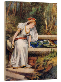Wood print  The Frog Prince - William Henry Margetson