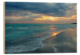 Wood print  Sunset at the sea - Filtergrafia