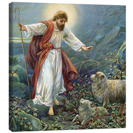 Canvas print  Jesus Christ, the tender shepherd - Ambrose Dudley