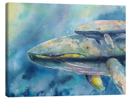 Canvas  Blue Whales - Jitka Krause