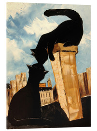 Acrylic print  Cats in Paris - JIEL