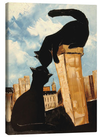 Canvas print  Cats in Paris - JIEL