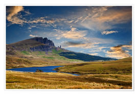 Premium poster Scotland - Old Man of Storr at the isle of Skye