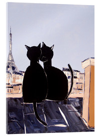 Acrylic glass  Cats in Paris - JIEL