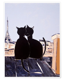 Premium poster  Cats in Paris - JIEL