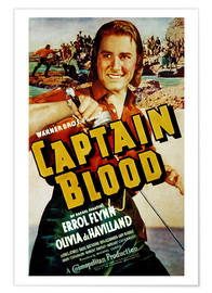 Premium poster CAPTAIN BLOOD, Errol Flynn, 1935