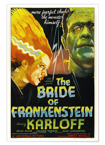 Premium poster The Bride of Frankenstein