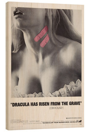 Wood print  Dracula has risen from the grave
