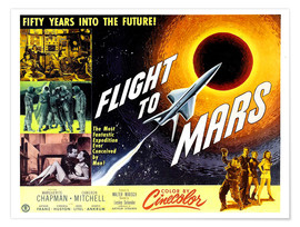 Premium poster FLIGHT TO MARS, 1951.