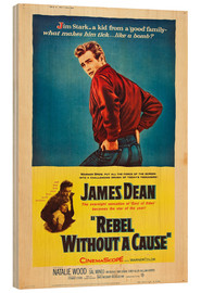 Wood print  Rebel Without a Cause