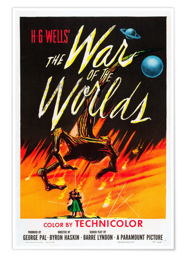 Premium poster THE WAR OF THE WORLDS, 1953