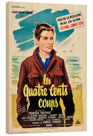 Wood print  The 400 Blows (French)