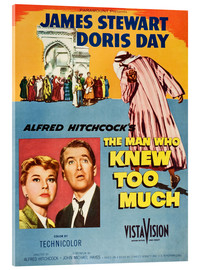 Acrylic glass  THE MAN WHO KNEW TOO MUCH, Doris Day, James Stewart
