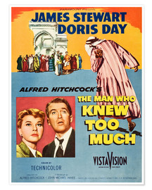 Premium poster  THE MAN WHO KNEW TOO MUCH, Doris Day, James Stewart