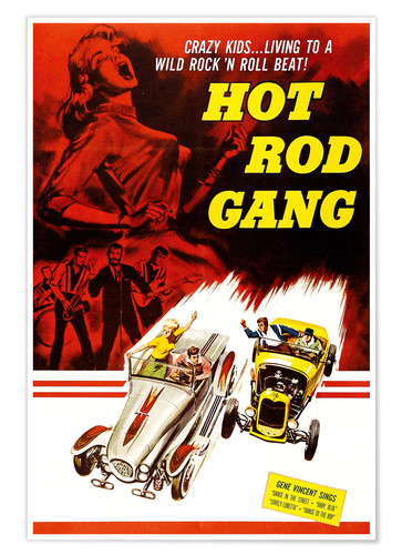 Premium poster HOT ROD GANG
