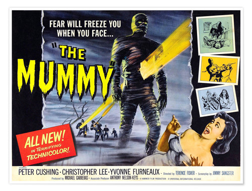 Premium poster The Mummy, Christopher Lee, Yvonne Furneaux